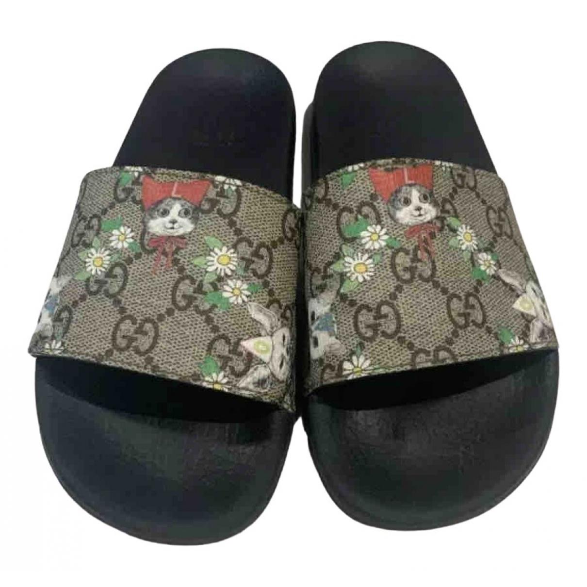 Gucci - Sandales   pour enfant en caoutchouc - multicolore