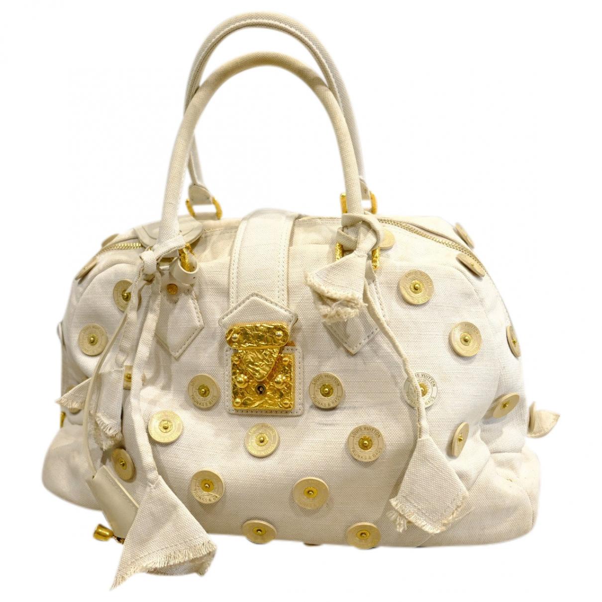 Louis Vuitton \N Handtasche in  Weiss Leinen