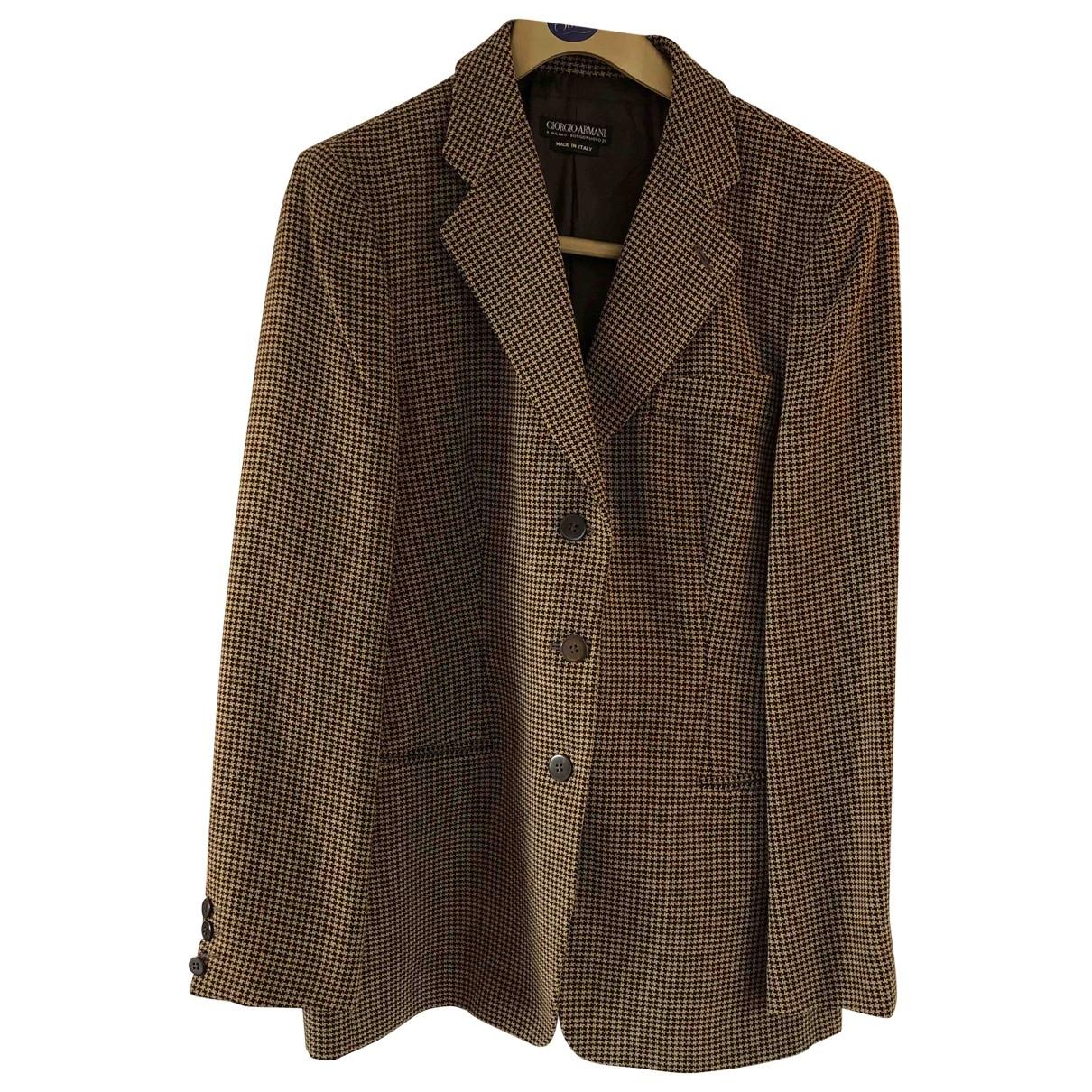 Giorgio Armani \N Brown Wool jacket for Women 48 IT