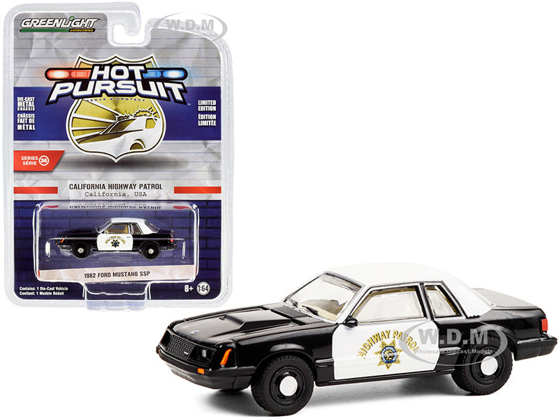 1982 Ford Mustang SSP Black and White CHP
