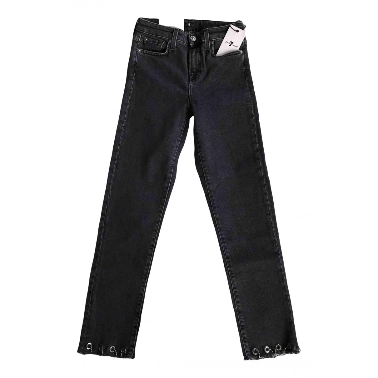 7 For All Mankind \N Black Denim - Jeans Jeans for Women 32 FR