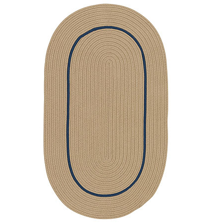 Colonial Mills Sapphire Bay Braided Oval Reversible Indoor/Outdoor Rugs, One Size , Beige
