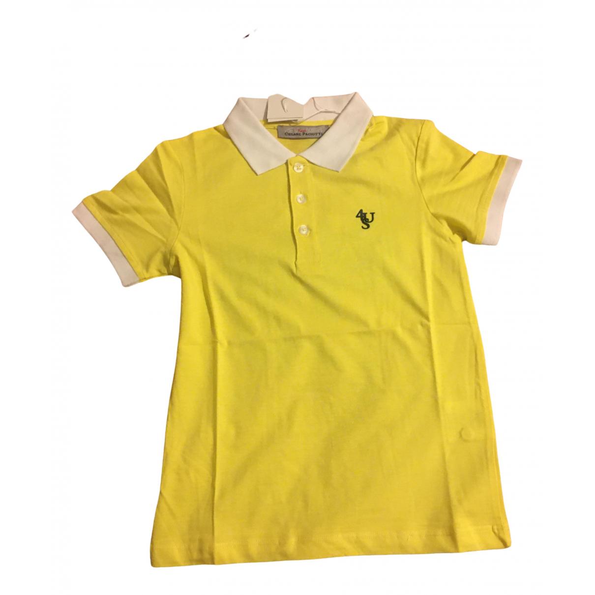 Cesare Paciotti - Top   pour enfant en coton - jaune