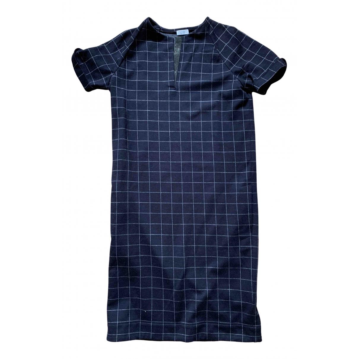 Brunello Cucinelli \N Navy Wool dress for Women S International
