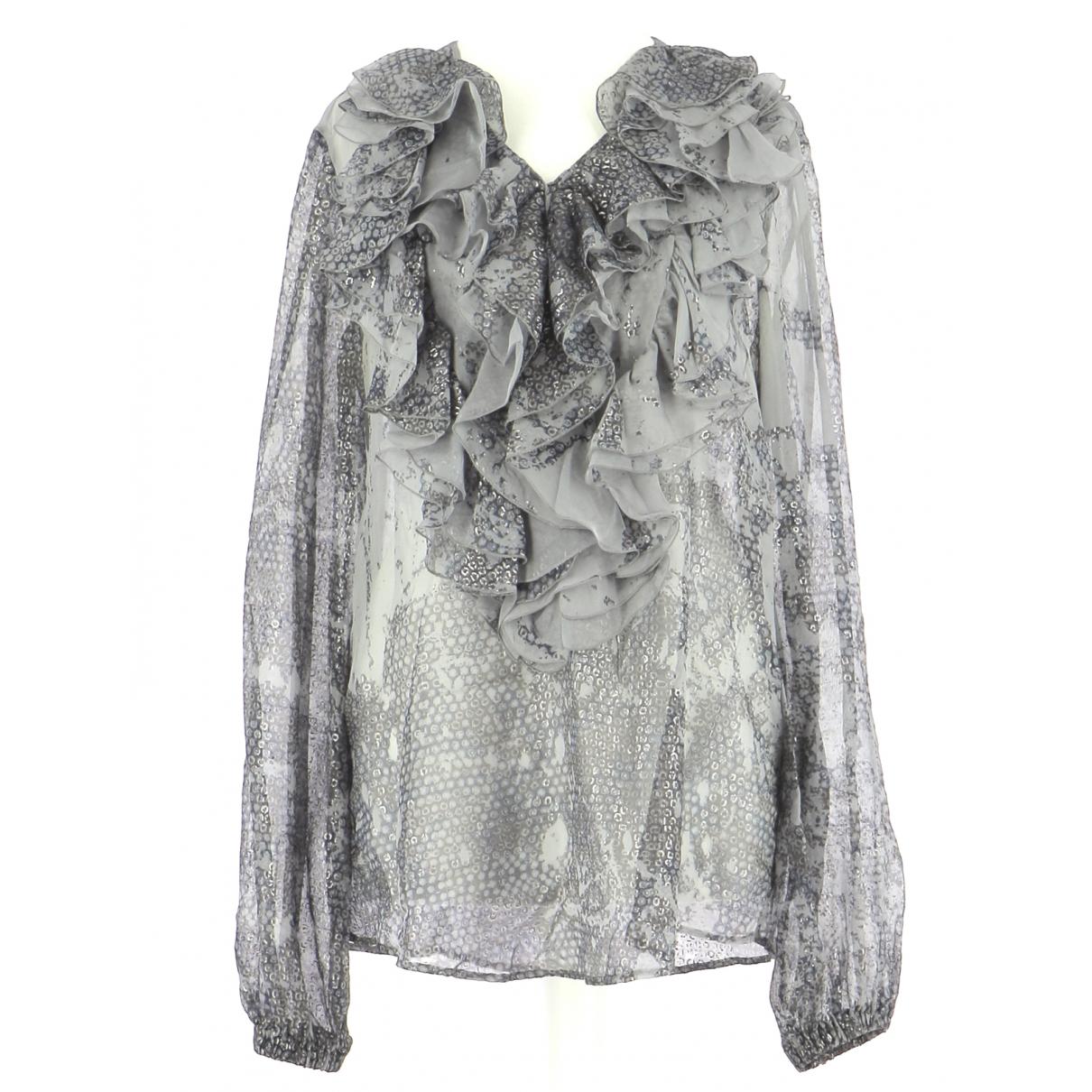Just Cavalli - Top   pour femme en soie - gris