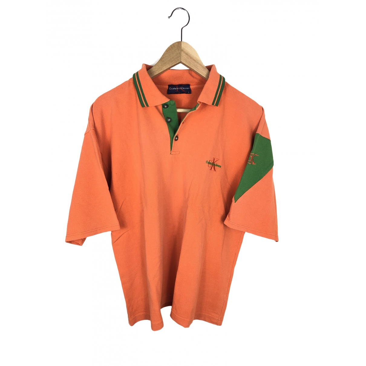 Calvin Klein - Polos   pour homme en coton - orange