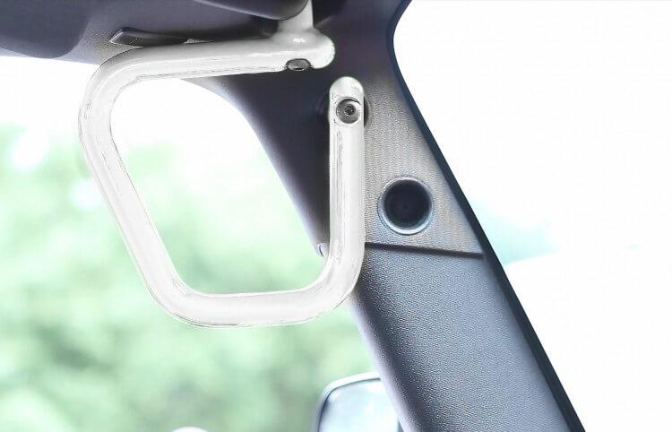Steinjager J0043592 Grab Handle Kit Wrangler JK 2007-2018 Rigid Design Front Cloud White