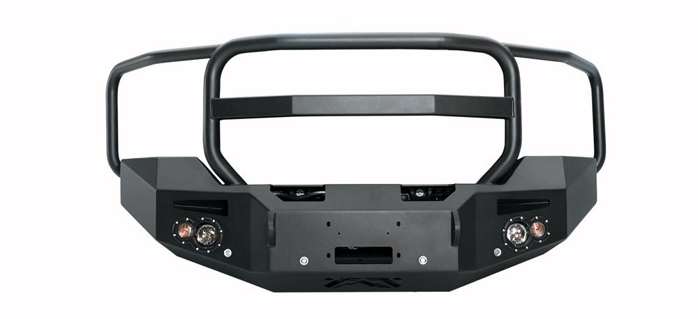 Fab Fours GM14-C3150-1 15-18 GMC HD 2500-3500 SENSOR Front Winch Bumper w/Full Grill Guard