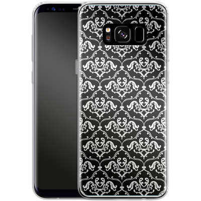 Samsung Galaxy S8 Silikon Handyhuelle - Black French Lillies von caseable Designs