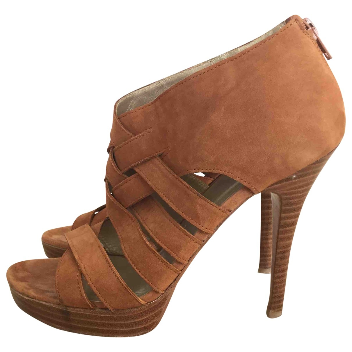 Stuart Weitzman - Boots   pour femme en suede - marron