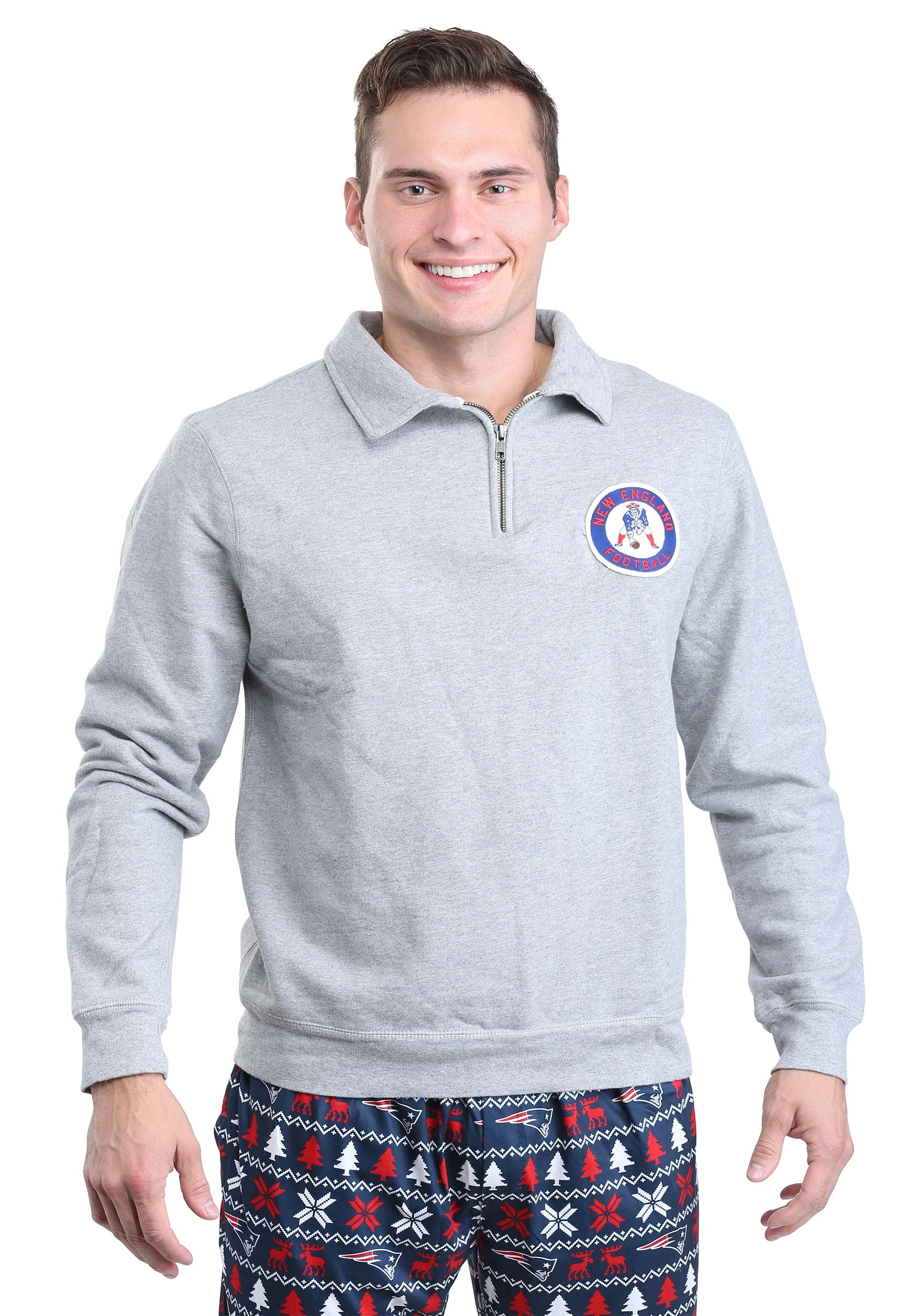New England Patriots Side Line Sweater for Men
