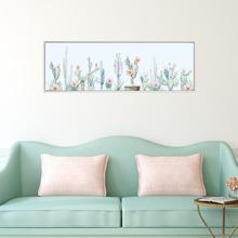 Pintura de pared con estampado de cactus sin marco