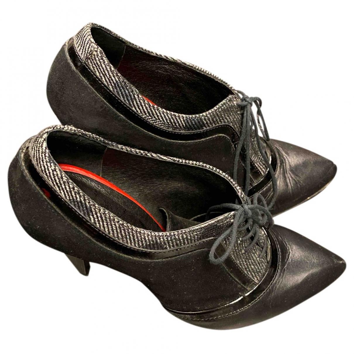 Cnc - Escarpins   pour femme en cuir - noir