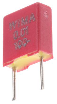 WIMA 10nF Polyester Capacitor PET 63 V ac, 100 V dc ±20%, Through Hole (5)