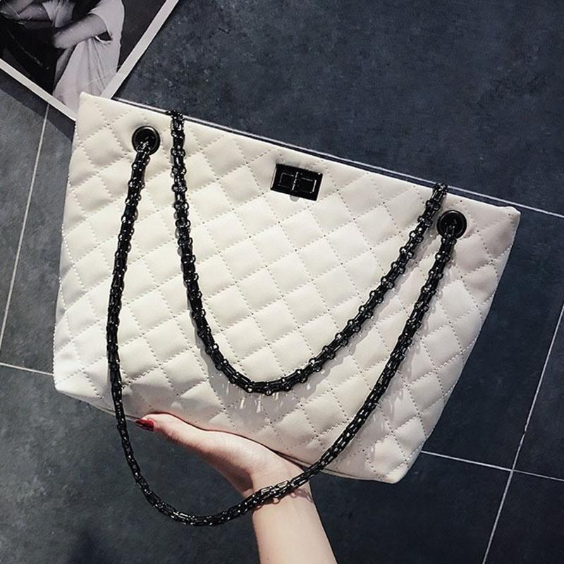 Ericdress Plaid Chain Rectangle Shoulder Bags