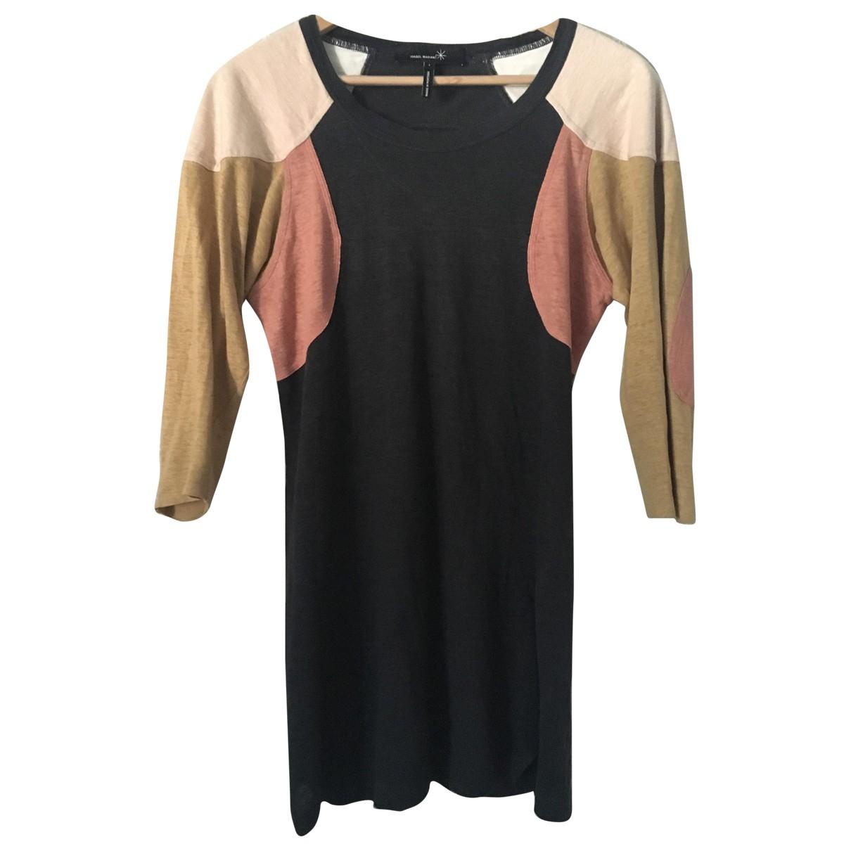 Isabel Marant Etoile \N Black Linen dress for Women 36 FR