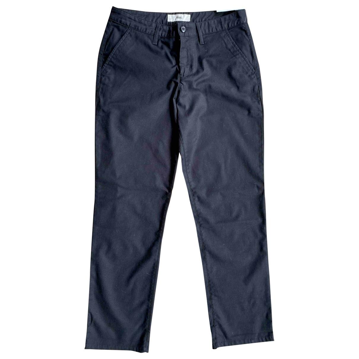 Vans - Pantalon   pour femme en coton - noir