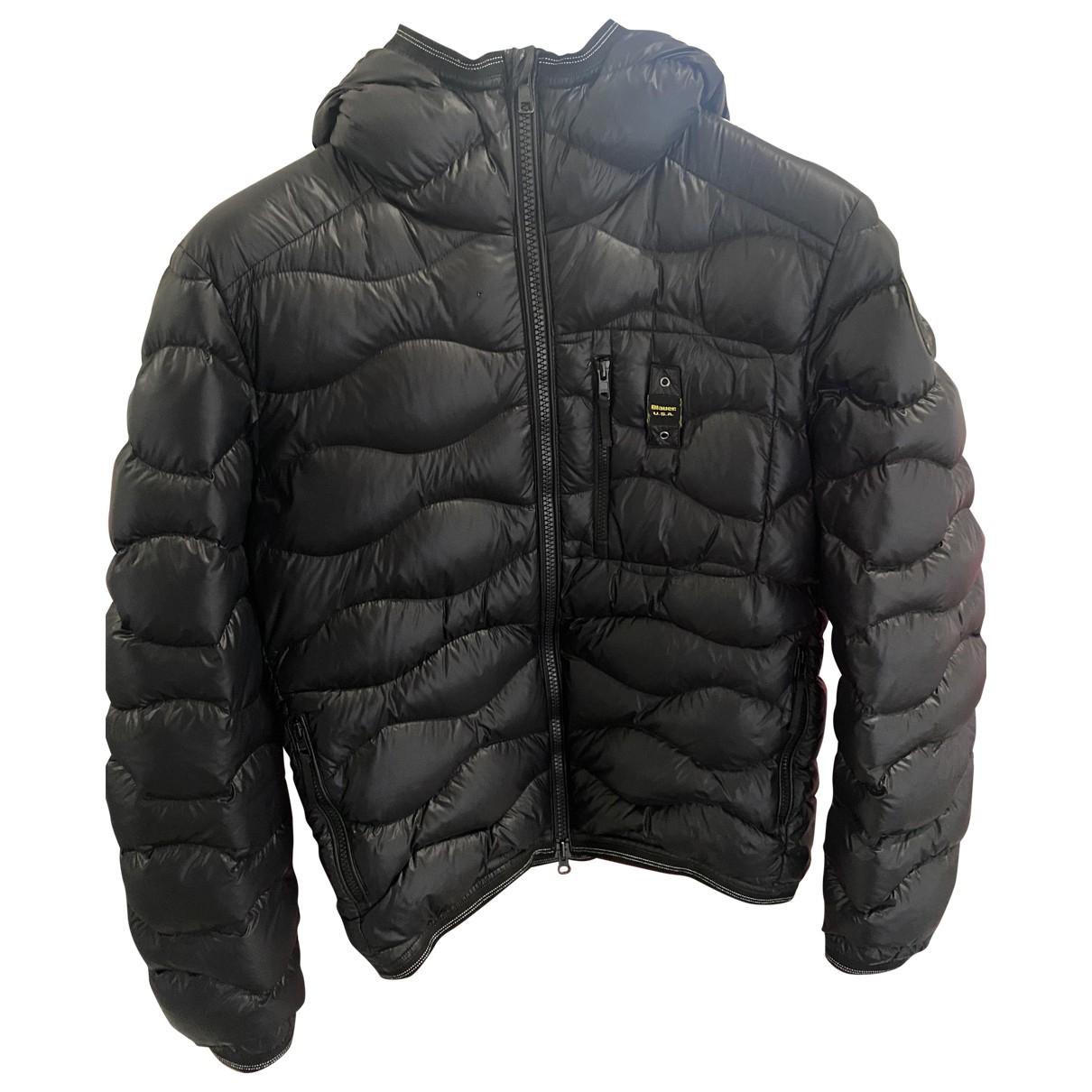 Blauer \N Jacke in  Schwarz Polyester