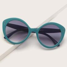 Sonnenbrille mit Nieten Dekor