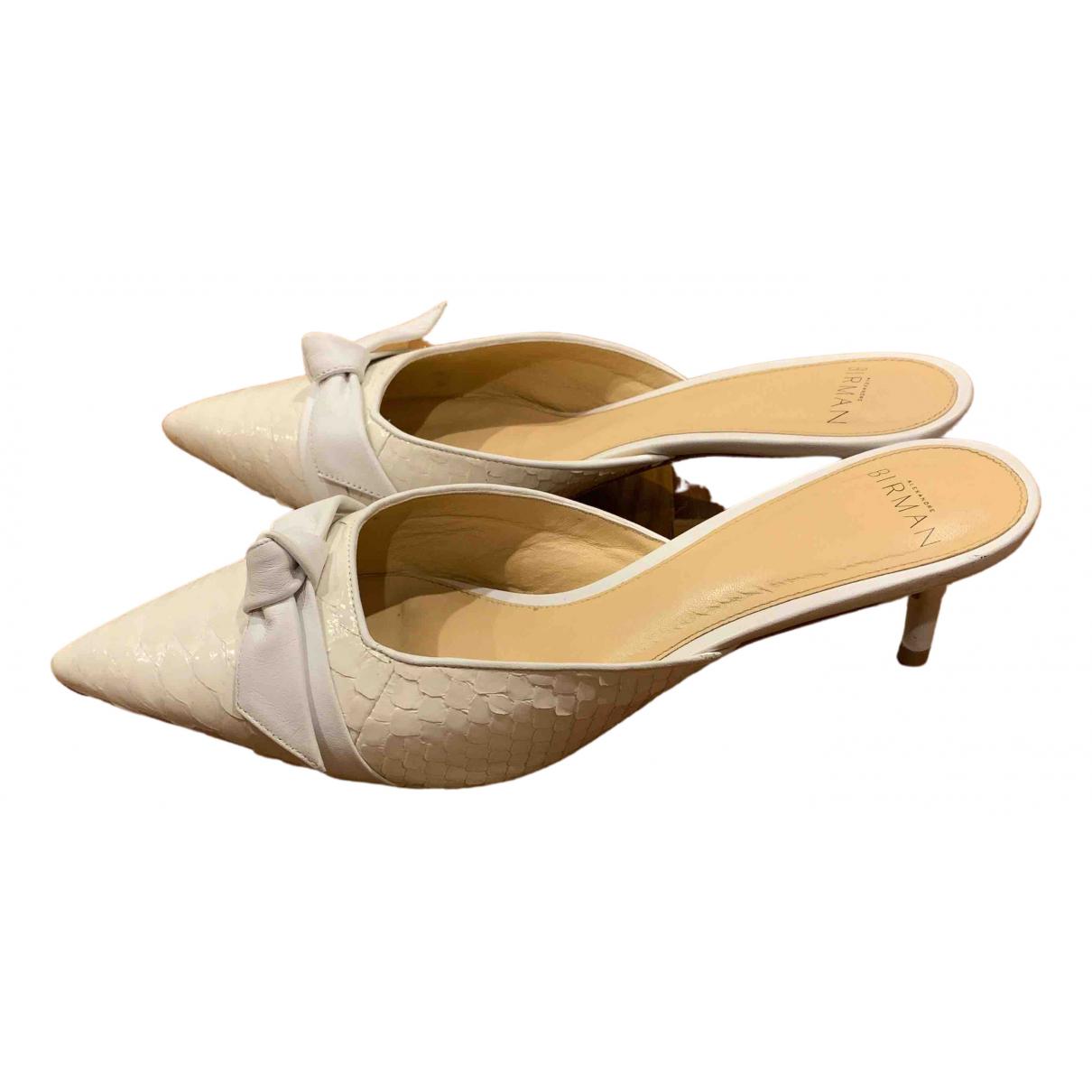 Alexandre Birman - Sandales   pour femme en cuir - blanc
