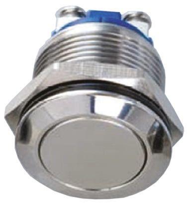 EOZ Single Pole Single Throw (SPST) Momentary Push Button Switch, IP65, 19.2 (Dia.)mm, Panel Mount, 48 V dc, 250 V ac