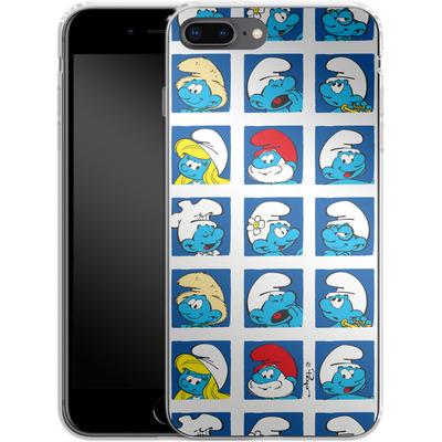 Apple iPhone 7 Plus Silikon Handyhuelle - Smurf Squares von The Smurfs