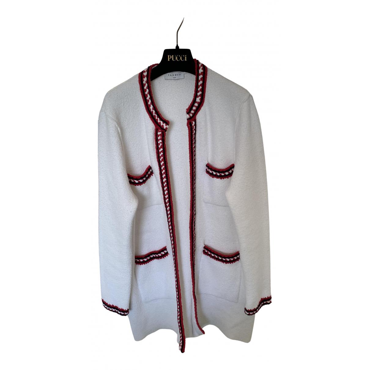 Sandro Fall Winter 2019 White Cotton jacket for Women 36 FR
