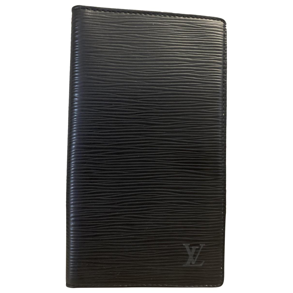Louis Vuitton Couverture Passeport Black Leather Purses, wallet & cases for Women \N