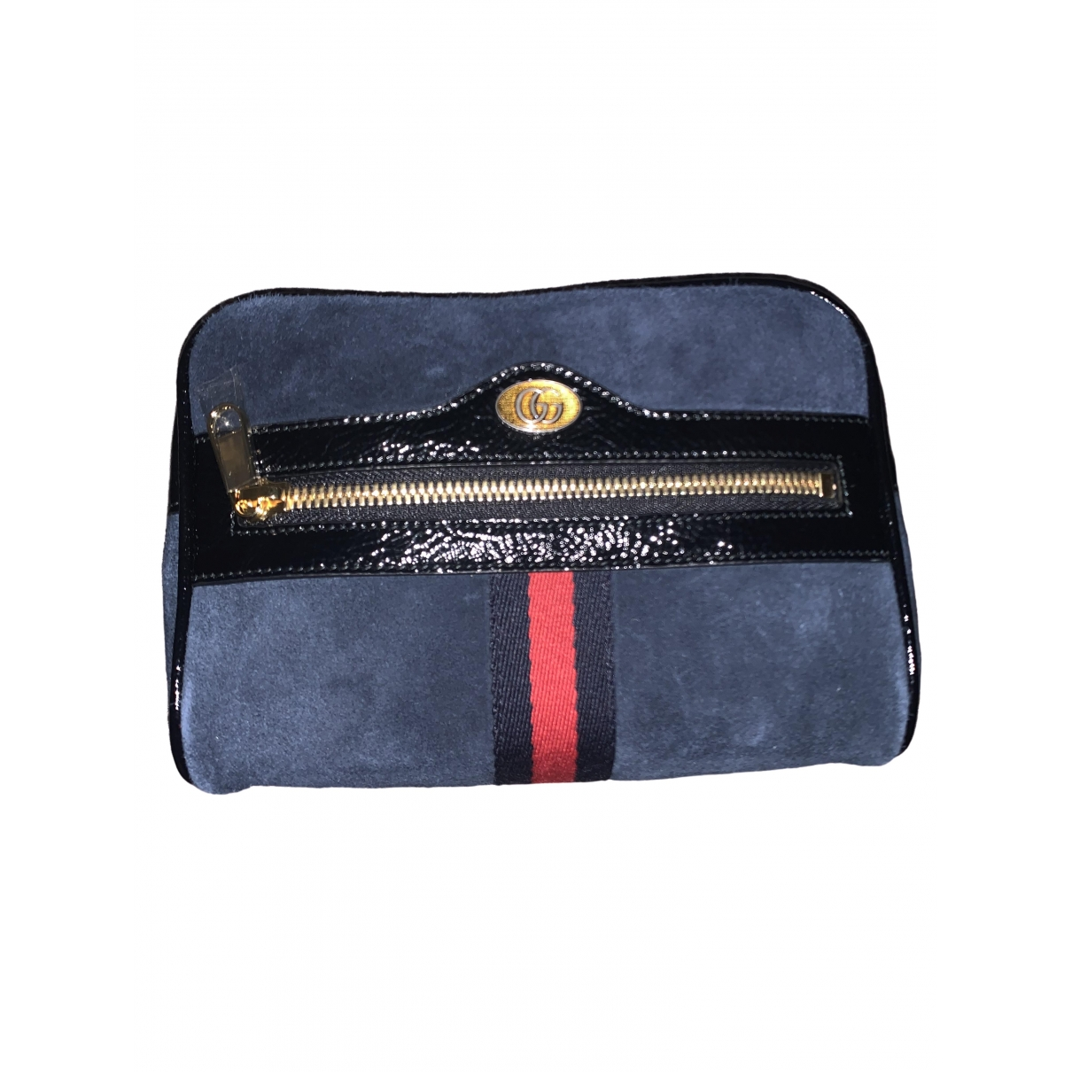 Gucci Ophidia Clutch in  Blau Veloursleder