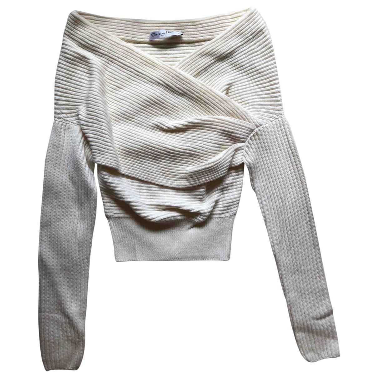 Dior N White Wool Knitwear for Women 36 FR
