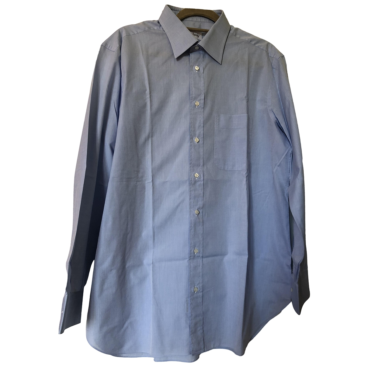 Brioni \N Blue Cotton Shirts for Men XXL International