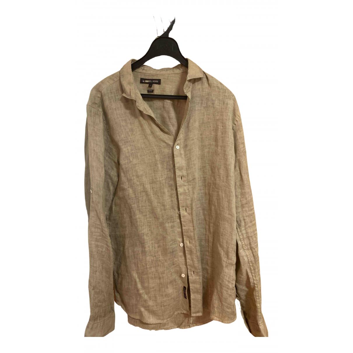 Michael Kors - Chemises   pour homme en lin - marron
