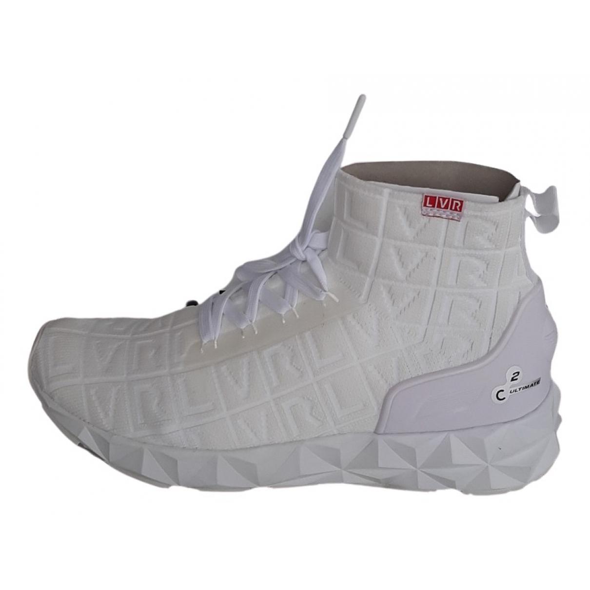 Emporio Armani N White Cloth Trainers for Men 8 UK