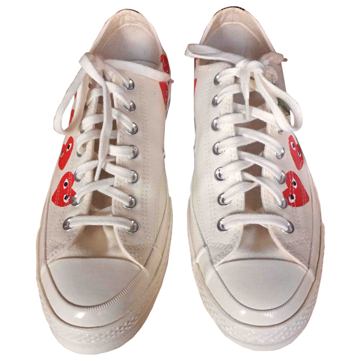 Converse X Play Comme Des Garcons \N Sneakers in  Weiss Leinen