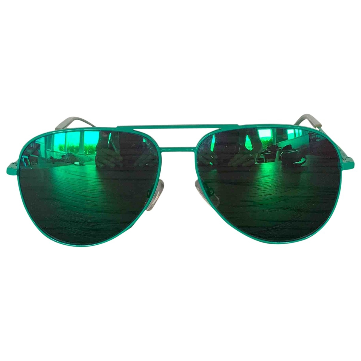 Saint Laurent \N Green Metal Sunglasses for Women \N