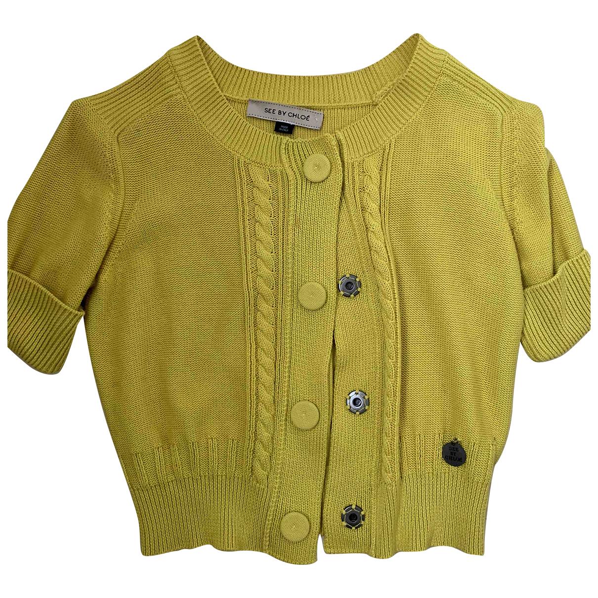 See By Chloe - Pull   pour femme en coton - jaune
