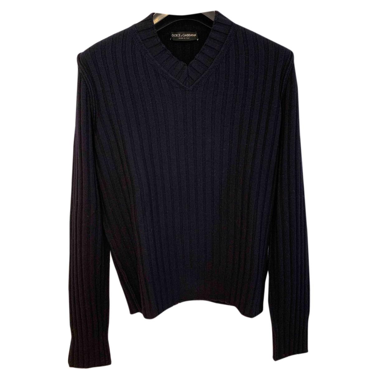 Dolce & Gabbana \N Pullover.Westen.Sweatshirts  in  Blau Wolle