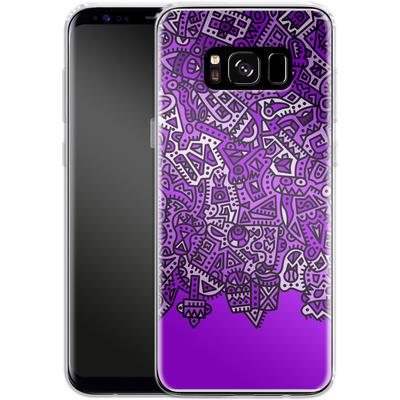 Samsung Galaxy S8 Silikon Handyhuelle - Violet Black von Mattartiste