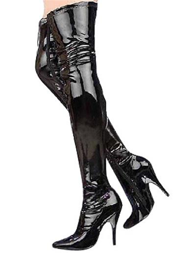 Milanoo Botas de punta sobre la rodilla de tacon alto de estilo sexy