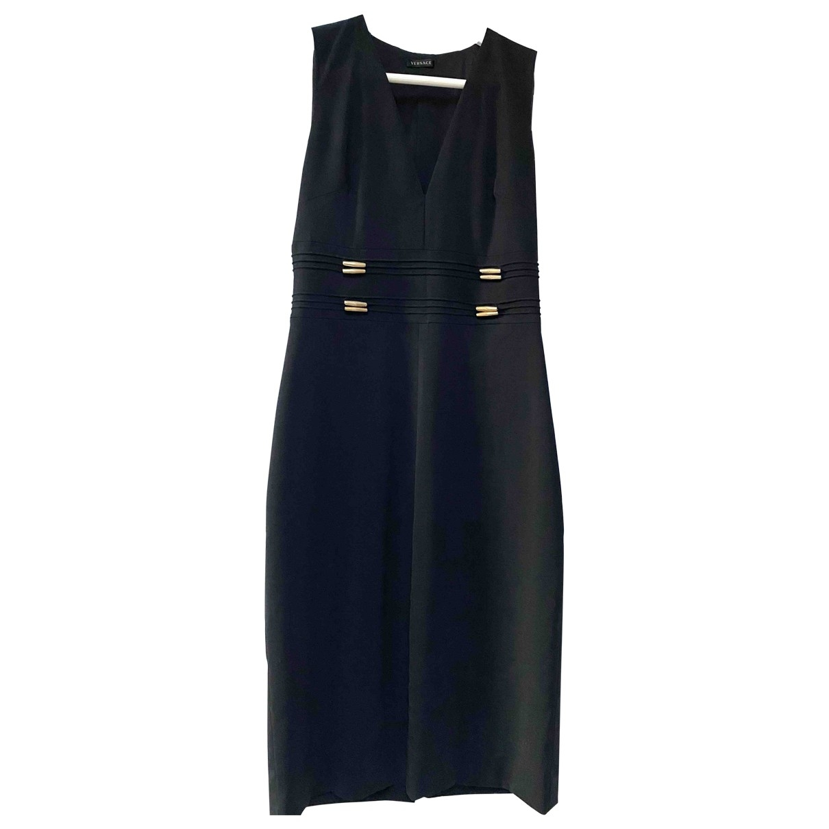 Versace \N Kleid in  Schwarz Wolle