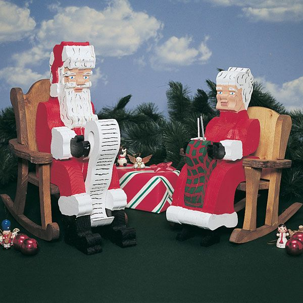 Woodworking Project Paper Plan to Build Pull-Apart Santa & Mrs. Claus, Plan No. 862