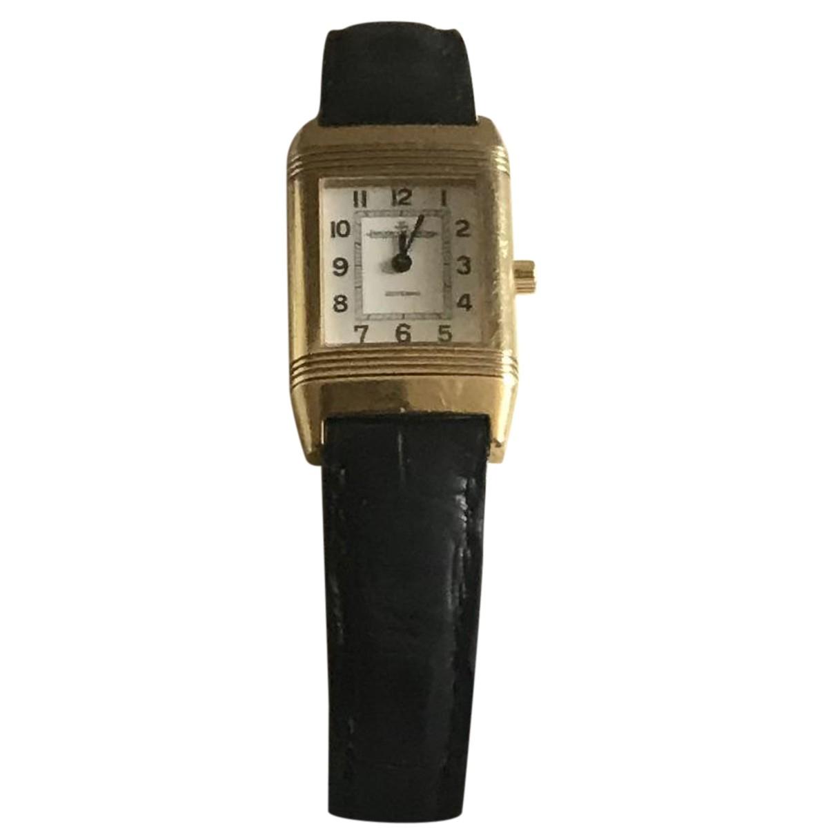 Jaeger-lecoultre Reverso Uhr in  Schwarz Gelbgold