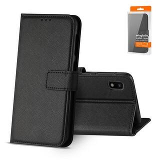 Reiko 3-In-1 Wallet Case for SAMSUNG GALAXY A10 (BLACK)