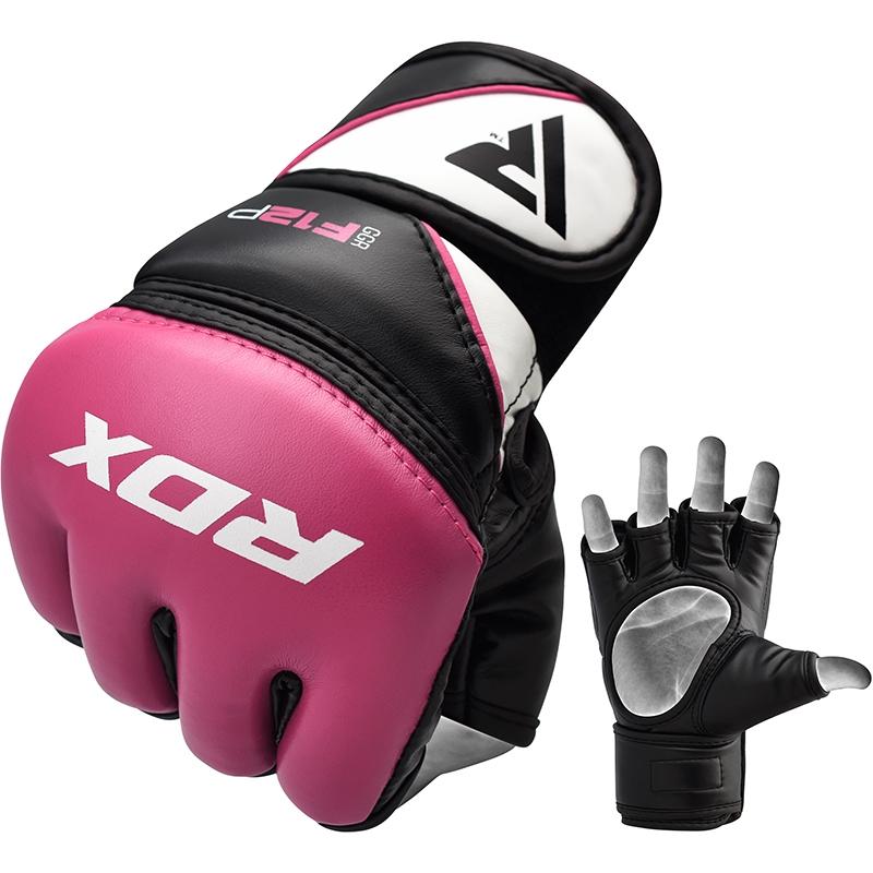 RDX F12 Women MMA Gloves Training and Grappling Medium Pink/White/Black