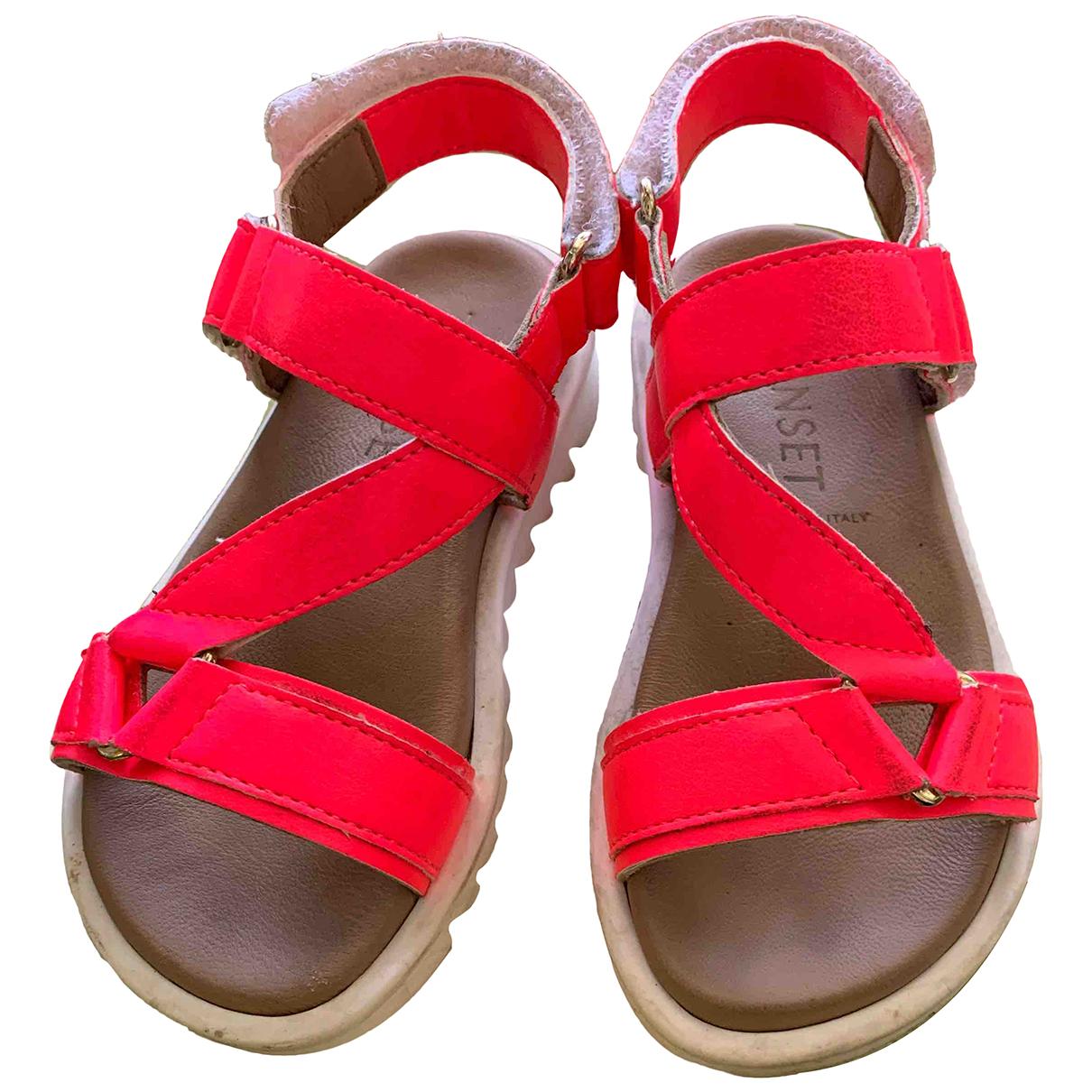 Twin Set - Sandales   pour enfant en cuir - rose