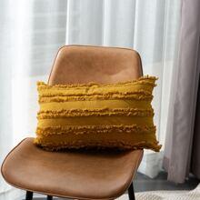 Tassel Detail Lumbar Pillow Cover Without Filler