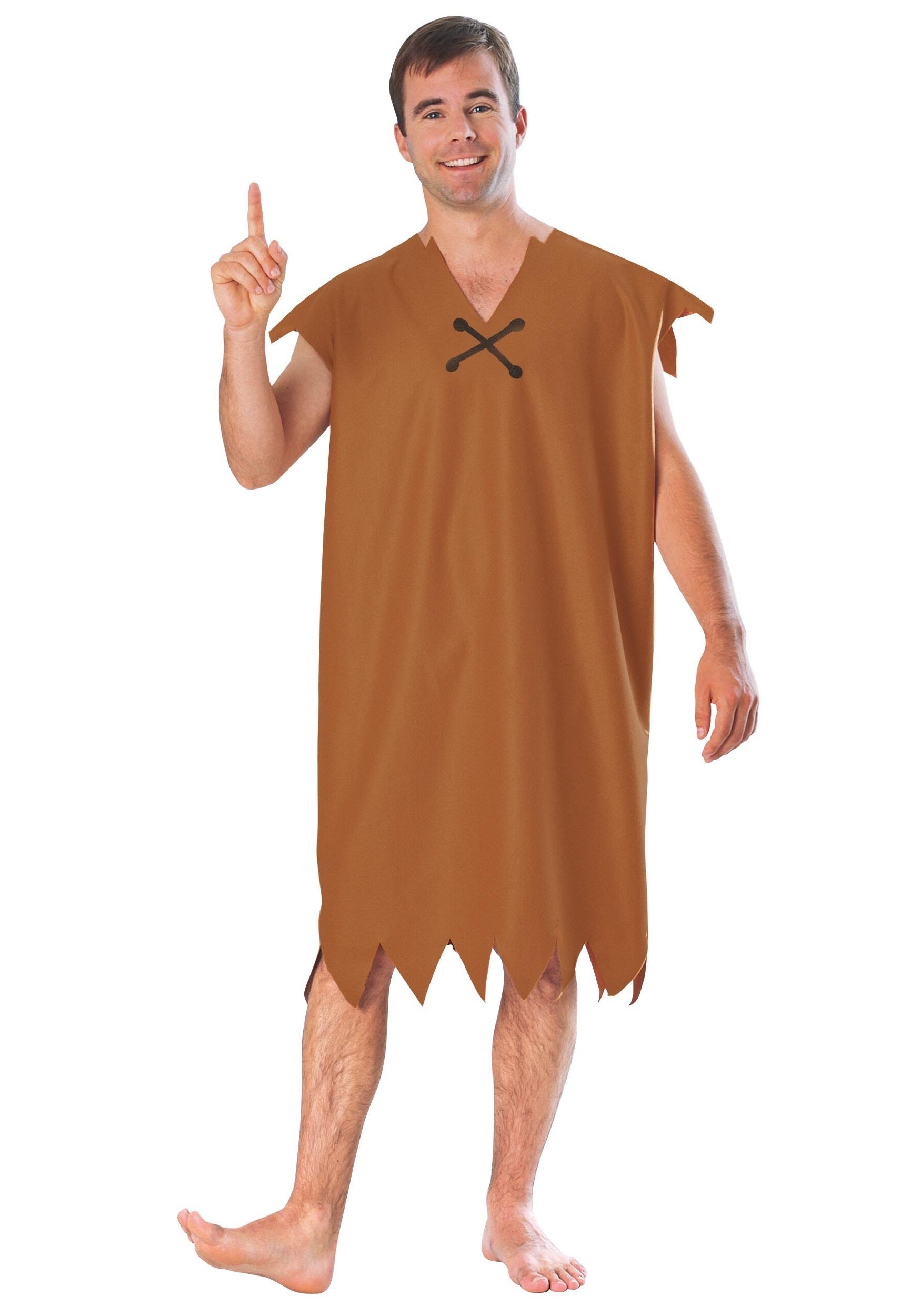 Barney Rubble Costume for Men