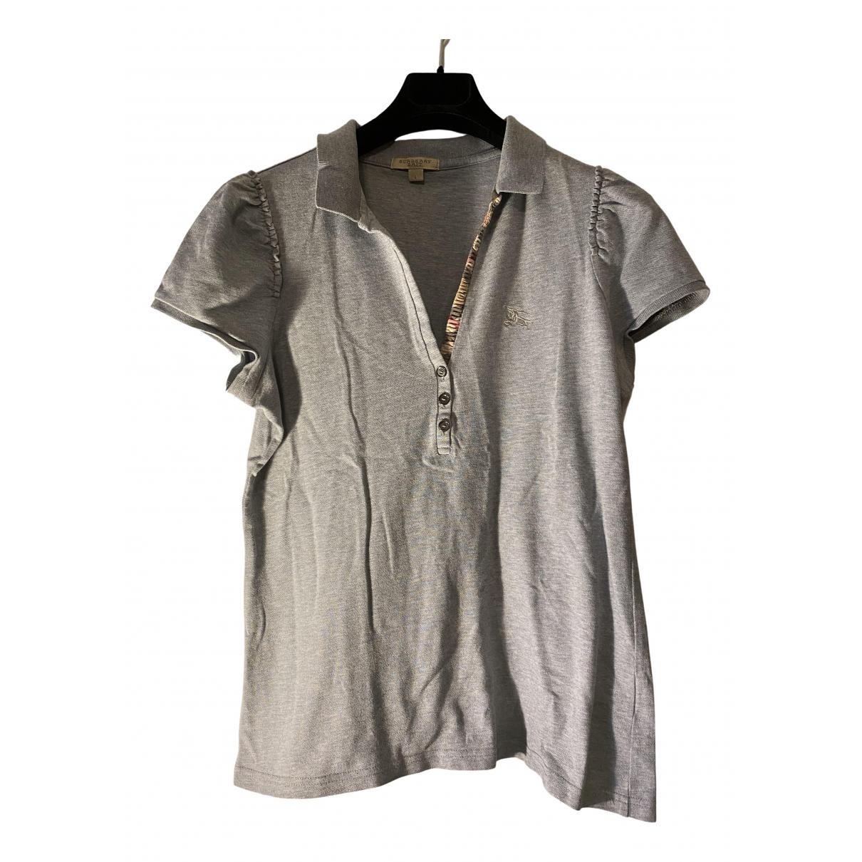 Burberry - Top   pour femme en coton - gris