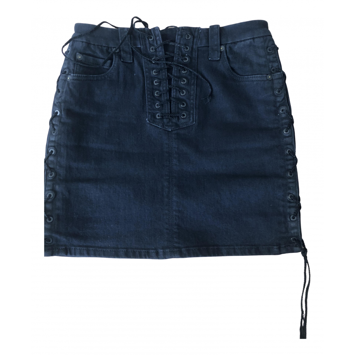 Unravel Project \N Black Denim - Jeans skirt for Women S International