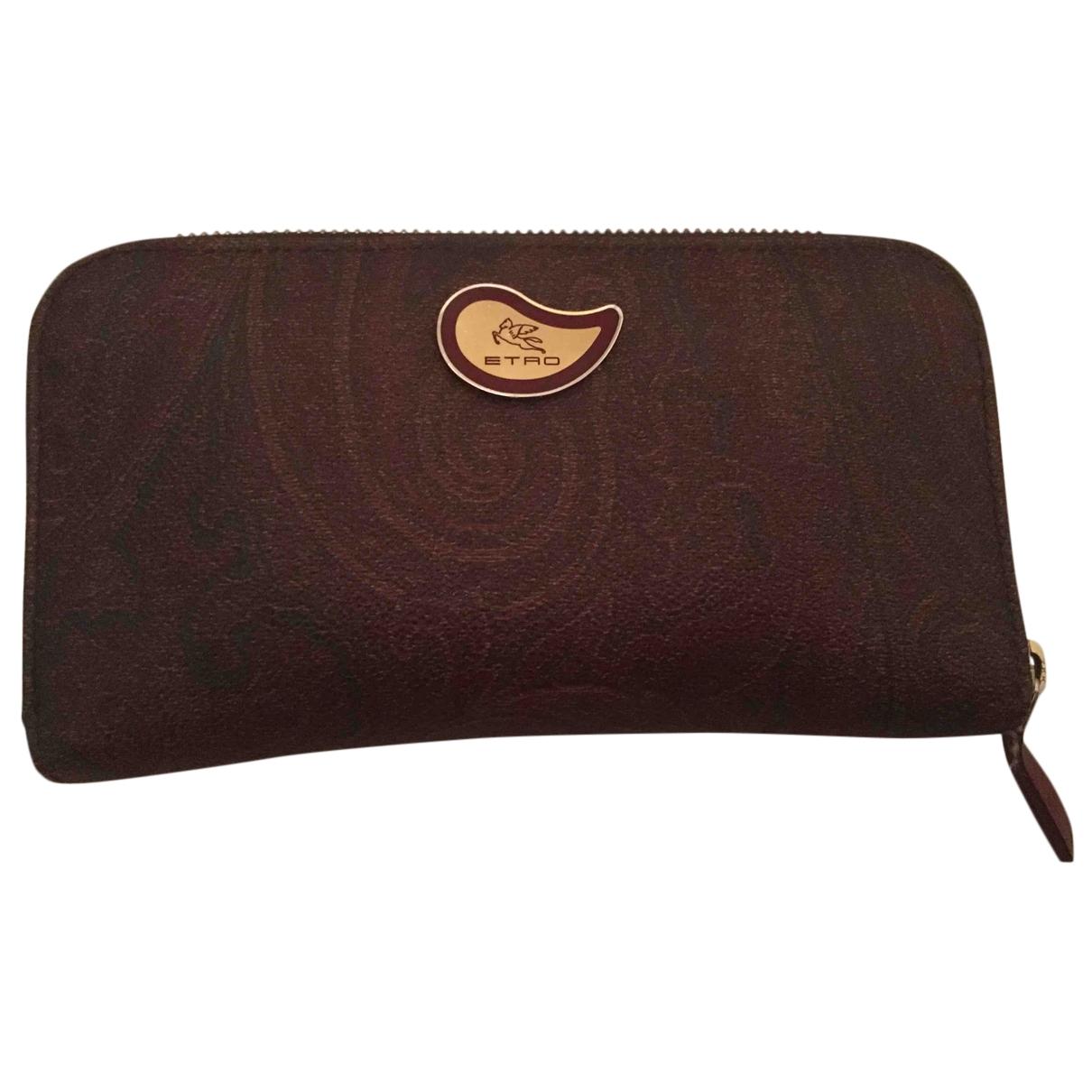 Etro - Portefeuille   pour femme en cuir - marron